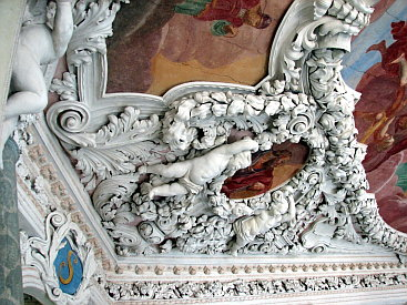 Stuckdekoration in der Schlosskapelle Saalfeld